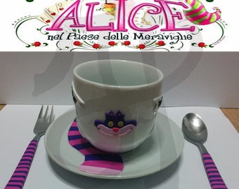 Breakfast with the Cheshire cat from Alice in Wonderland