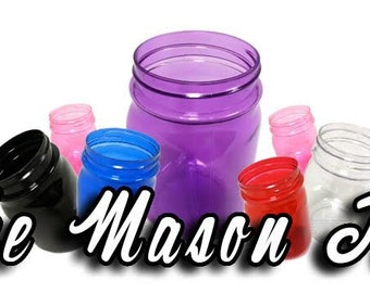 20 16OZ Plastic Mason Jars, Wedding Favors, Baby Showers, Soap Dispensers, Canning, Storing Baking Items, Bachelorette Parties