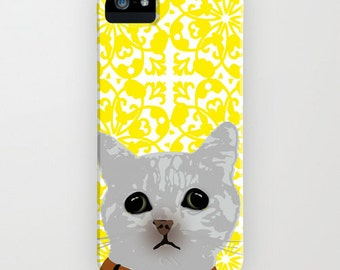 Cat on Phone Case - Cat Gift Ideas, Samsung Galaxy S7, iPhone 6S, iPhone 6 Plus, Gifts for Cat Lovers, Gifts for her, iPhone 8