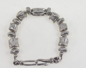 Hill Tribe Silver Beaded Bracelet