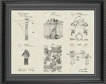 Scuba Diving Patent Collection Scuba Diver Gift PDIVE2024