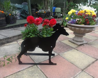 Greyhound Themed Garden Flowerpot Planter
