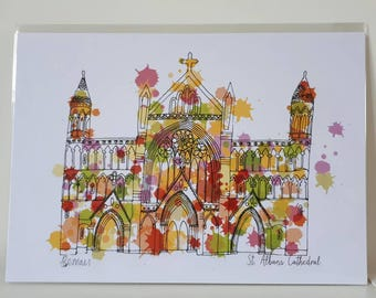 St Albans cathedral print