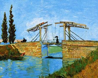 ORIGINAL design, durable and WASHABLE PLACEMAT - Van Gogh - Arles Langlois bridge.