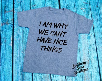 Cant have nice things tee, Little boy shirt, Boys clothing, Toddler shirt, Toddler tees, Funny kids shirt, cute kids clothing, Momof boys
