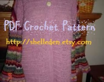 PDF Coat of Many Colors (Molly Weasley) Crochet Pattern Instant Download