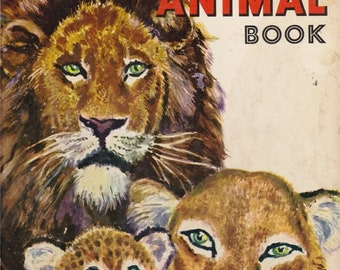 ON SALE The Great Big Wild Animal Book -  Vintage Big Golden Book - 1951 American edition