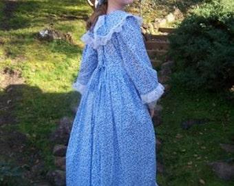 MARTHA WASHINGTON COSTUME colonial dress girl mob cap choice of prints made to measurement