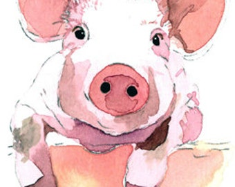 ACEO Limited Edition - My Little Fella, in watercolor
