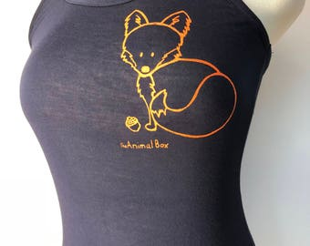 Fox navy Blue w/orange ink