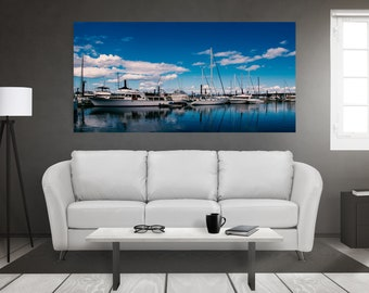 Blue on Print and Canvas, Boats Print, Boats Canvas, Boats Wall Art, Sailing Wall Art, British Columbia Wall Art