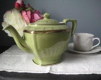 Vintage apple green tea pot