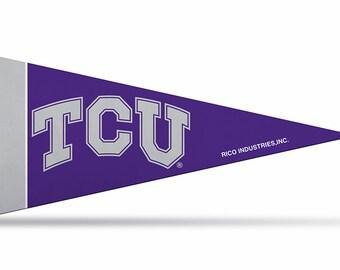 """TCU NCAA Licensed Mini Pennants, 4"""" x 9"""""""