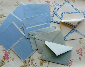 1940's Small Blue Stationary