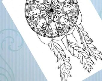 Dream Catcher Mandala/zentangle