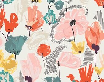 Wild Beauty Saffron  RPT-2702 - RAPTURE by Pat Bravo - Art Gallery Fabrics  - By the Yard