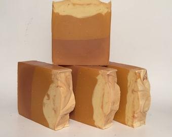 Pumpkin and Brown Sugar Soap, Cold Process Soap, Homemade Soap, Handmade Soap, Vegan Soap