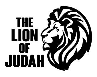 Lion of Judah Car Decal