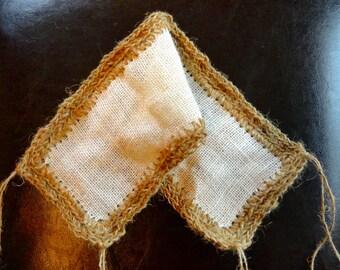 Animal de compagnie fait main filet Jute / toile de jute au Crochet étroit net, pont, hamac 2e niveau Bernard-l'ermite ou oiseaux oiseau ficelle rampe grimpeur photo prop