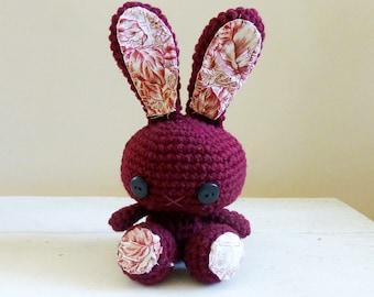 Stuffed Animal Bunny, Bunny stuffed animal, crochet amigurumi, crochet bunny, rabbit doll, ready to ship