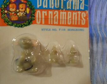 "Panorama Miniature Mice (3)- Plastic- 1""  Tall   *Special*"