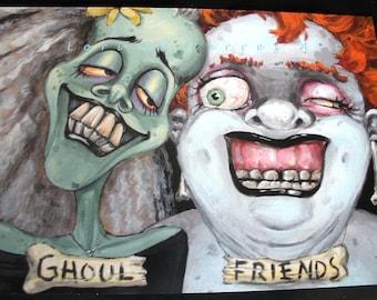 Ghoul Friends Greeting Card - Original Art by Lori Gutierrez!!