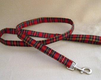 Red Plaid - Dog Leash