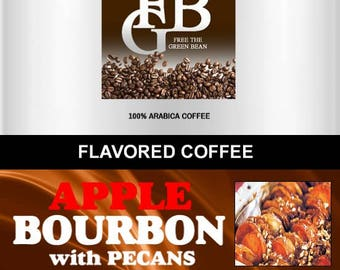 Apple Bourbon Pecan flavored coffee, sprinkled in a Kentucky bourbon sauce over delicious apples. Whole bean fresh roasted 2oz Sampler