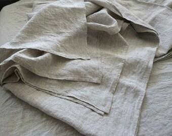 Natural linen flat sheet Linen bed sheet  Gray flat linen sheet linen bedding natural flax sheet Eco Sheets natural flat bedding gift