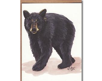 Woodland Bear Notecards - Black Bear Cards - Wildlife Stationery