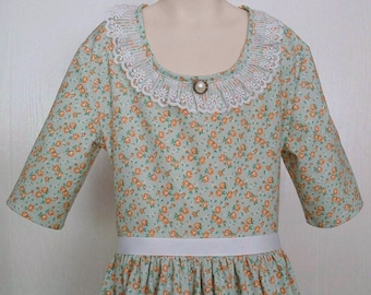 Girls Colonial Tea Dress Civil War Costume  Size 8/10 - Ready to Ship - School Play Reenactment Portrait