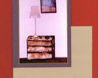 The Dressing Table Fine Art Blank Note Card Thinking of You Housewarming Get Together Relax Home Dresser