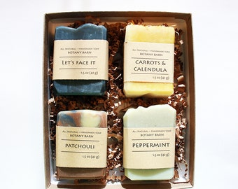Soap Gift Set - Organic Soaps, Soap Variety Pack, Gift Ideas, Birthday Gift, Mini Soaps, Luxury Soaps, Gifts under 20 dollars, Mothers Day