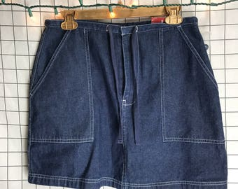 Vintage Route 66 Denim Mini Skirt
