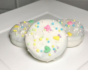Easter Themed White Chocolate Covered Oreos  (12)