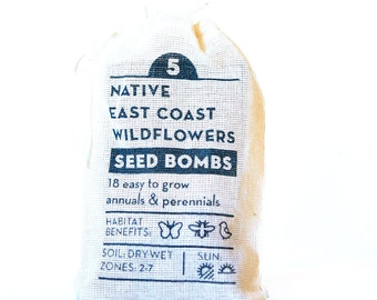 Seed Bombs East Coast Wildflowers Native Gardening Gift