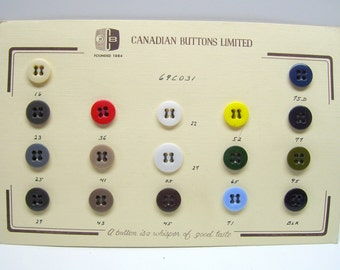 Vintage button card,high quality buttons,glass/plastic button card,red/white/yellow/blue/brown/black buttons