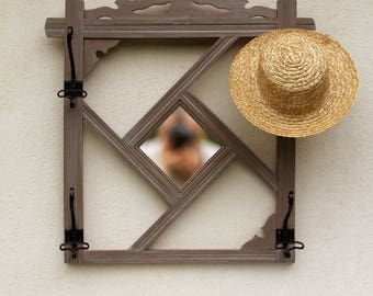 Edward: mudroom revisited wooden mirror