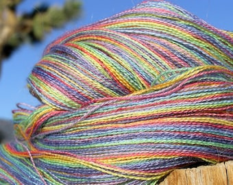 Lace Weight Yarn - Baby Alpaca, Silk, Cashmere - Rainbow
