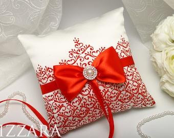 wedding ring bearer box Ring Bearer Pillow RED Wedding Ring bearer pillow accessories Wedding vintage wedding Decor Wedding ring holder
