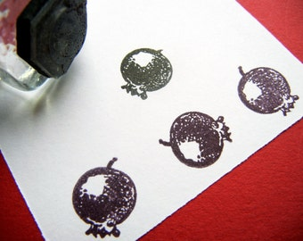 Little Blueberry Rubber Stamp - Handmade  by BlossomStamps