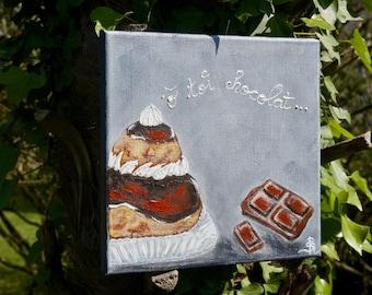 Religious painting modern gourmet chocolate