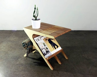 Mid Century Modern End Table/ Side Table (shown in Baltic Birch)
