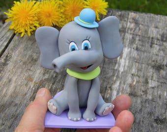 Baby shower elephant party theme, Elephant cake topper, Elephant figure, Personalized cake topper, Baby shower for boy, Gift for baby shower
