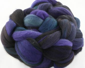 Hand Dyed roving - Superwash Merino wool spinning fiber