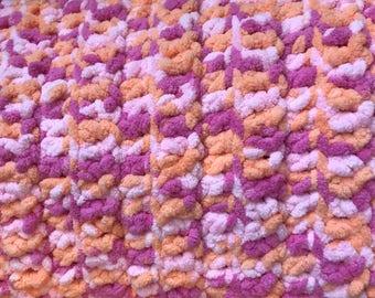 Super Snuggly Crochet Baby Girl Blanket