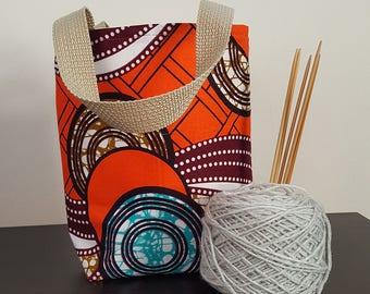 Orange Bounce Knitting / Tote Bag