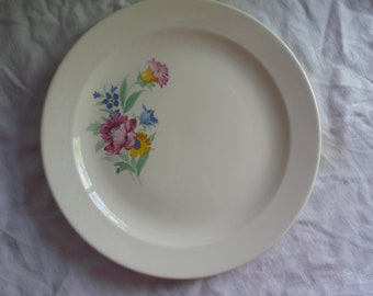 Lovely Dresden Floral Cake Plate by Royal