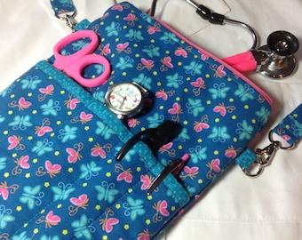 Nursing Bag, Nurse organizer bag, medical bag, stethoscope case for nursing students, LNAs, CNAs Vet techs & others in the medical field
