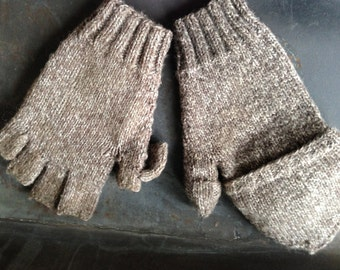 PDF Men's Convertible Gloves - Knitting Pattern